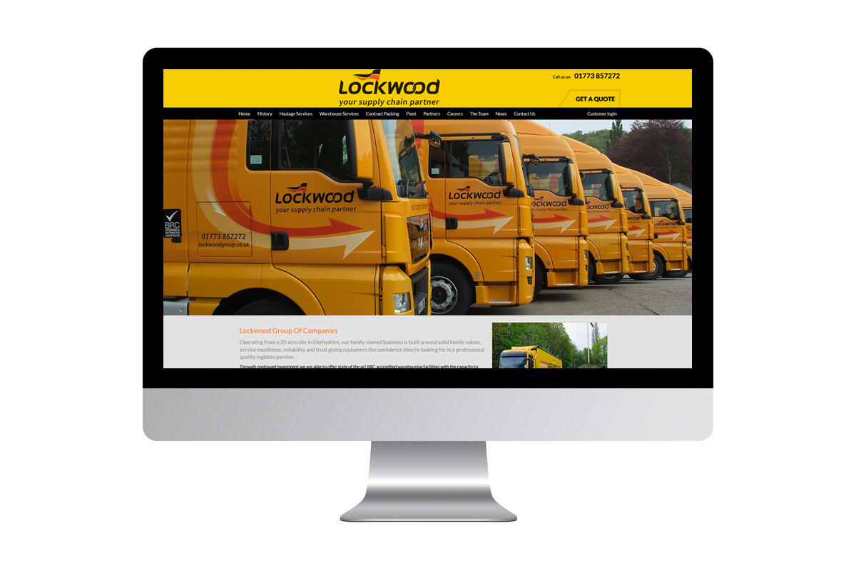 Haulage Website Design
